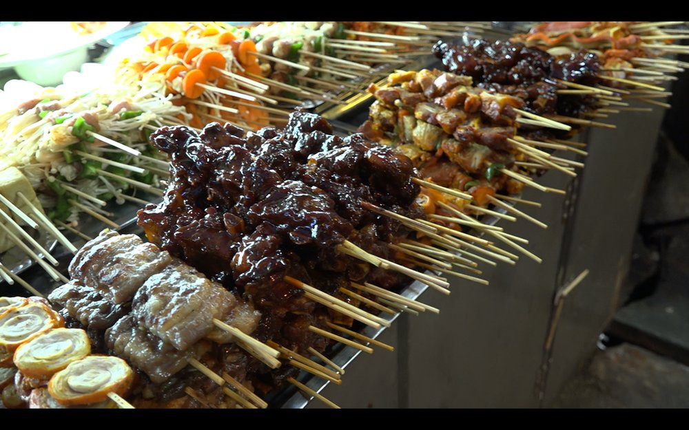 Yangon evening street food: China town barbecue