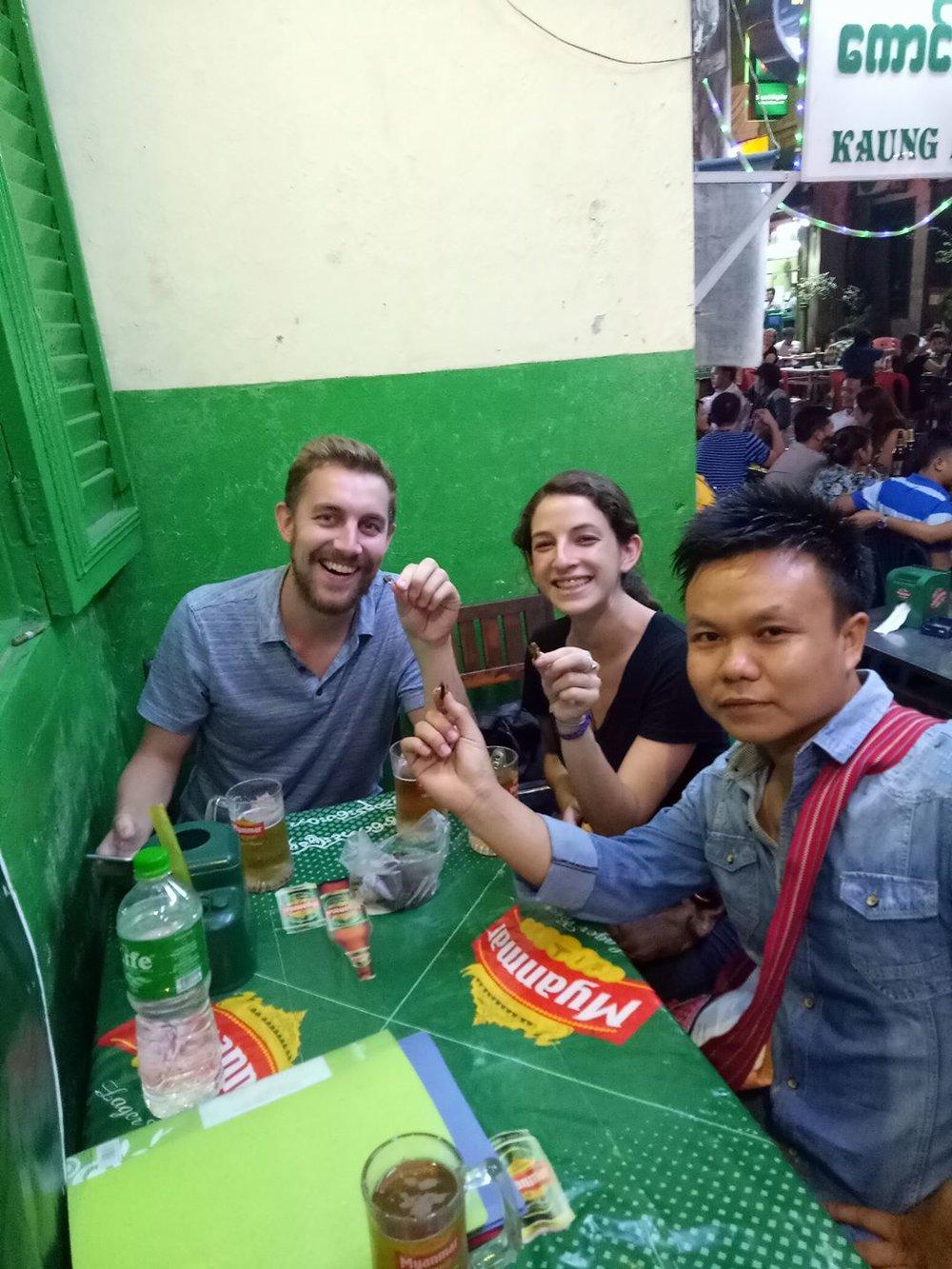 Deep fried bugs - Yangon Street Food Tour