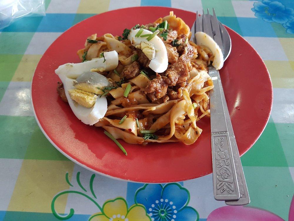 Nan pyar thoke (flat noodle salad)