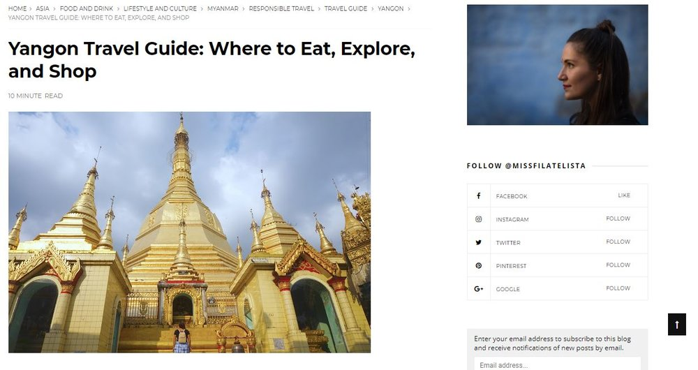 Where to eat, explore and shop in Yangon