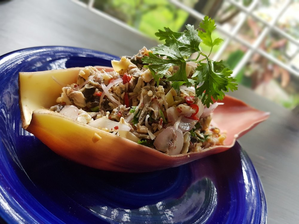 Banana Flower Salad in our downtown Yangon Cooking Classes