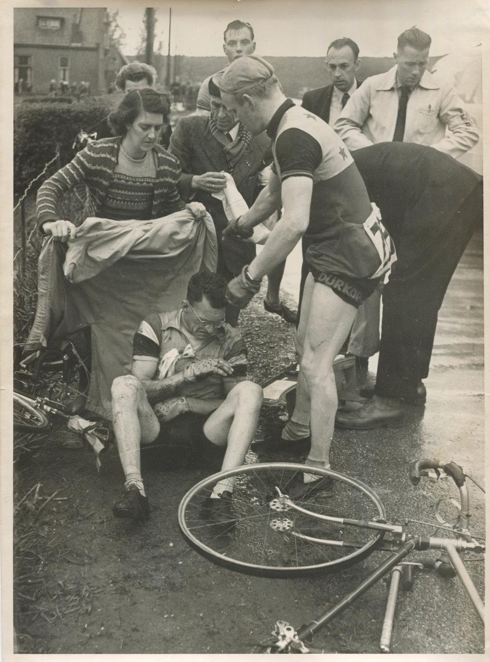 Na een val in de Ronde van Noord-Holland