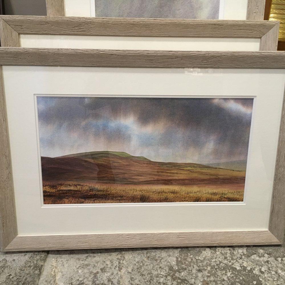 Carver Hill Reeth original watercolour £350