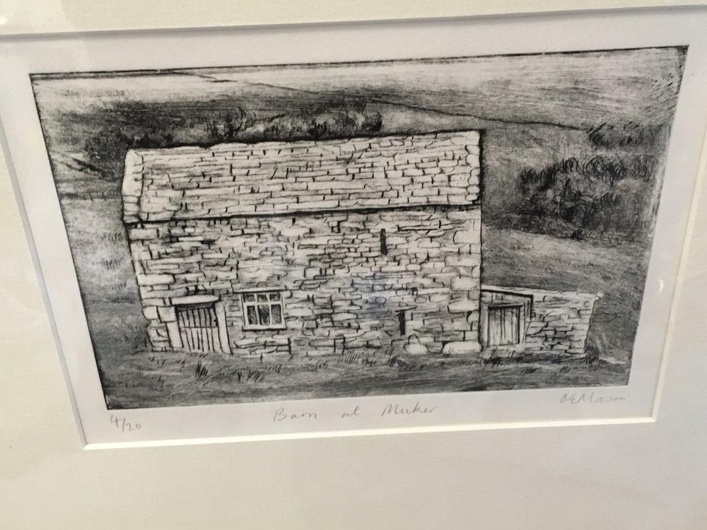 Engraving 'Barn at Muker' limited edition print 4/20 £ 40.00