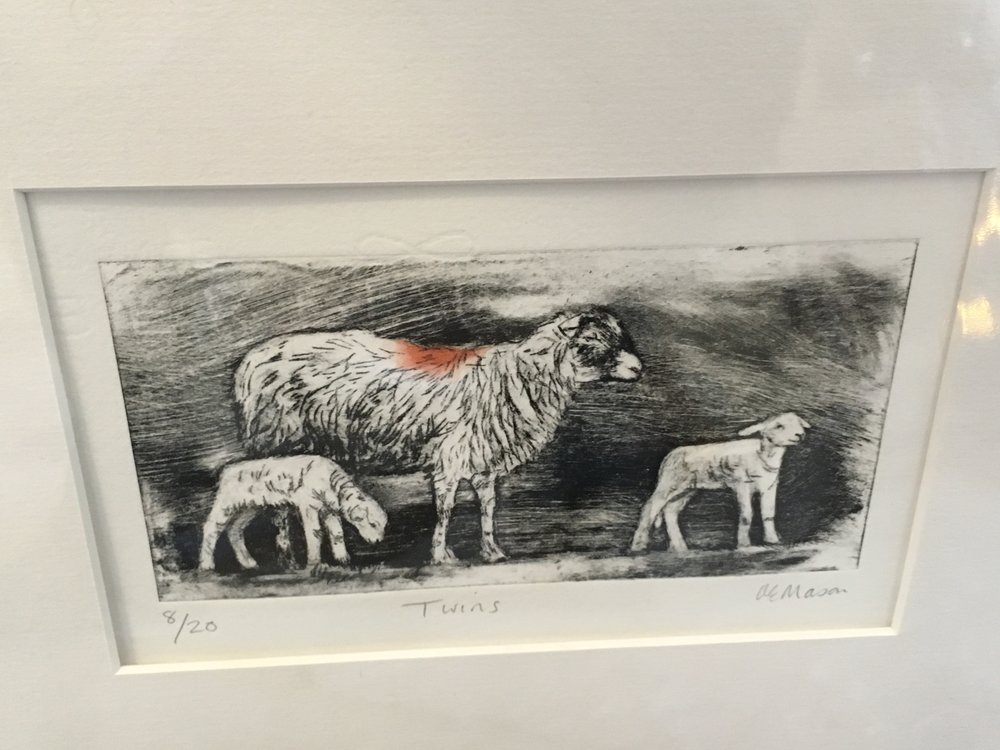 Engraving limited edition print 'Twins' 8/20 £28.00