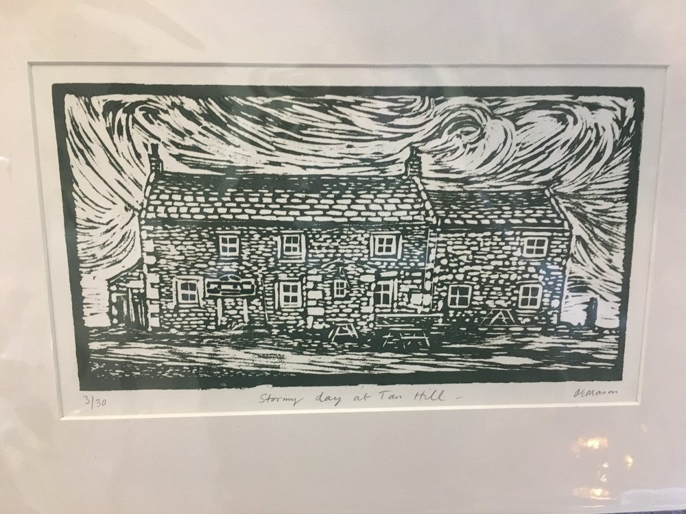 Woodcut. Stormy Day at Tan Hill limited edition print 3/30 £38.00