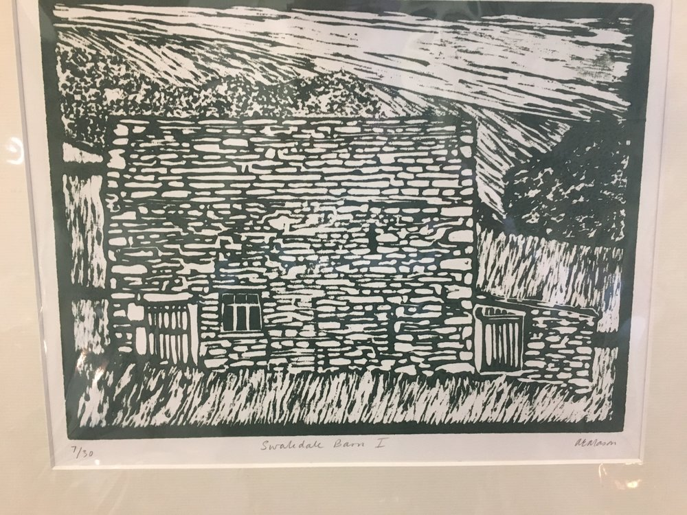 Woodcut 'Swaledale Barn 1' limited edition 7/30 £38