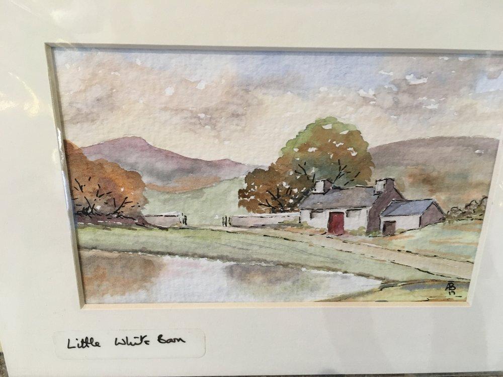 Little White Barn original watercolour £18.00