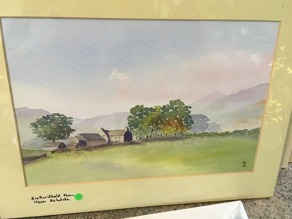 Original Watercolour ' Brotherilkeld Farm Upper Eskdale' £75.00