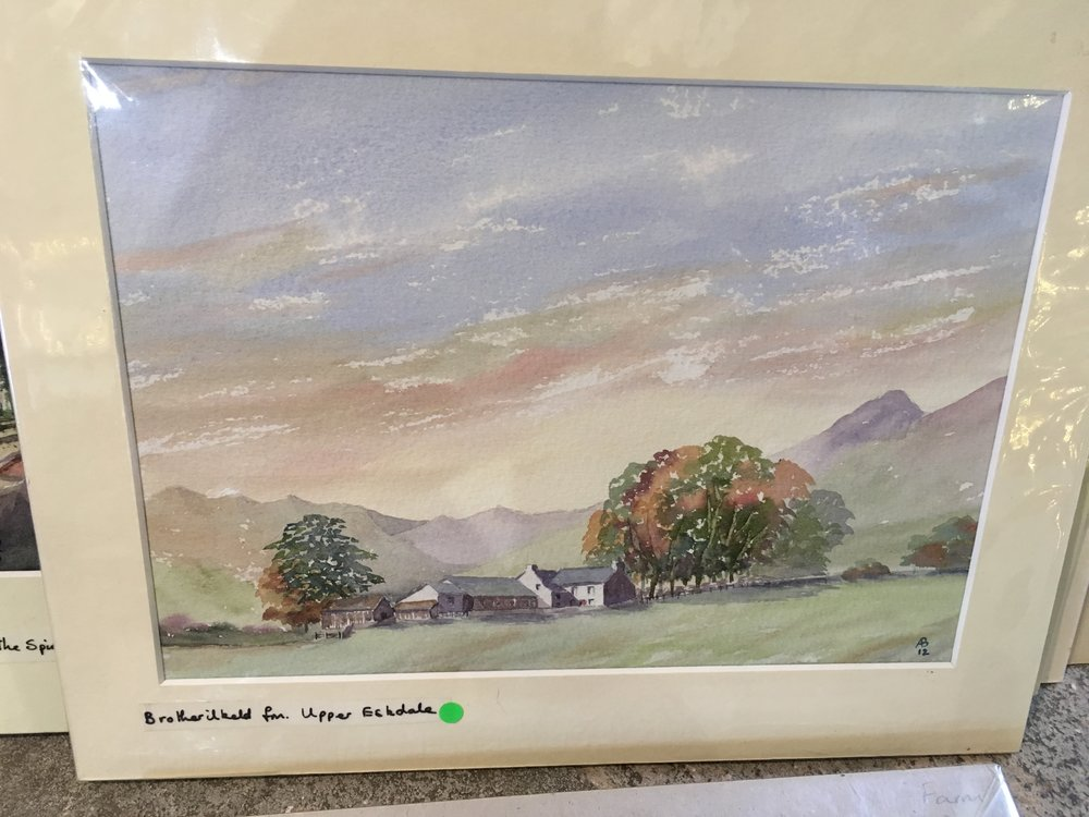 Original watercolour ' Brotherkileld Farm Upper Skelldale £75.00