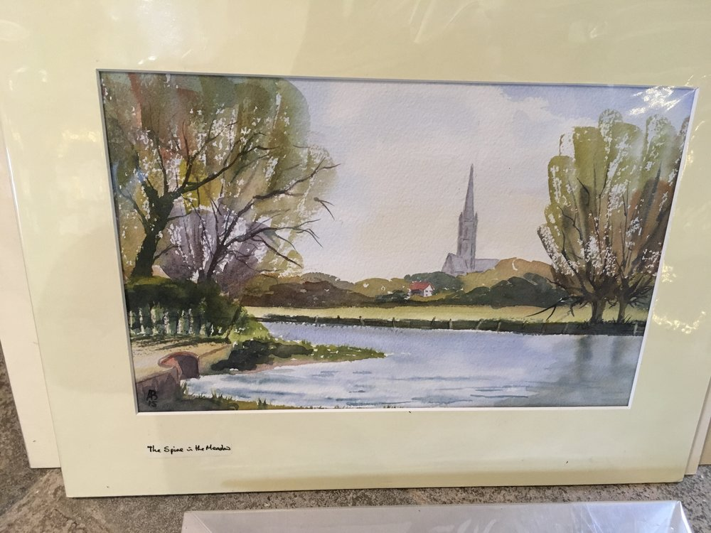 Original watercolour ' The Spire in the Meadow' £120.00