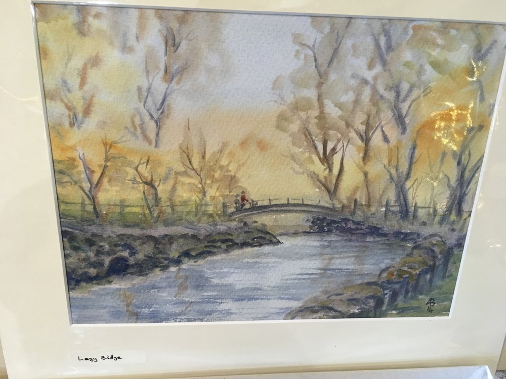 Original watercolour 'Lazy Bridge' £1200.00