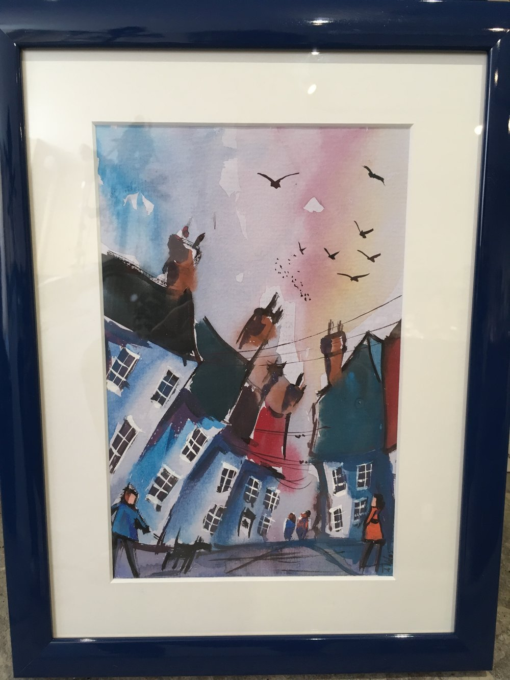 Original Watercolour 'The Birds' £150