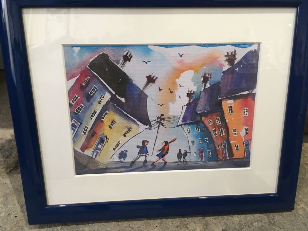 Original watercolour Windy Day £150