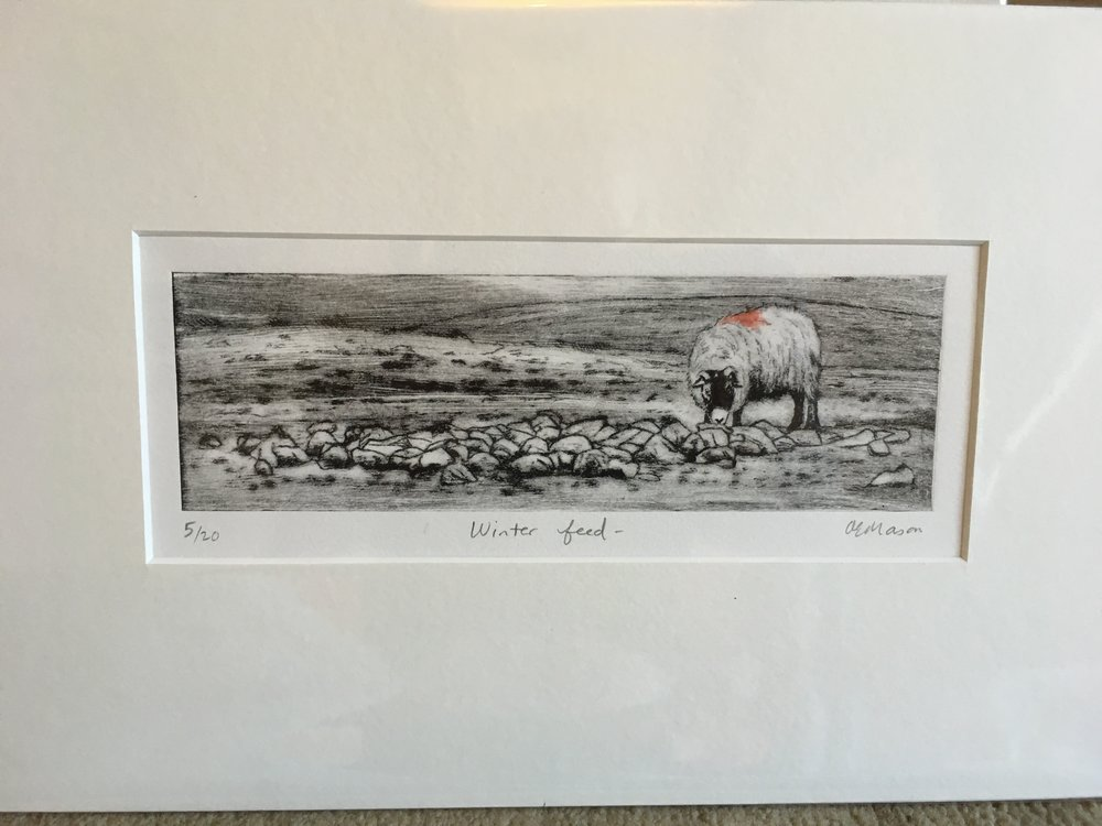Engraving 'Winter Feed' 5/20 £32