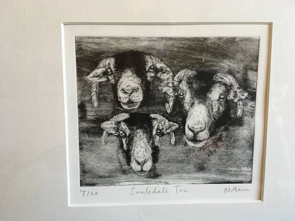 Engraving 'Swaledale Trio' 4/20 £28