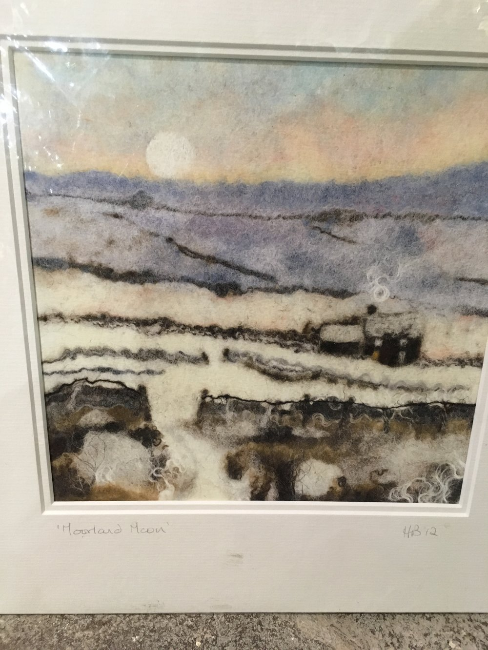 Felted art Print 'Moorland View 1' £40
