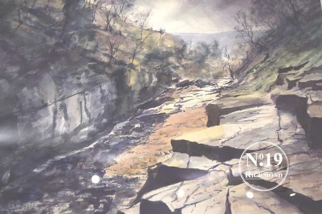 Peter Bolton ' Below Kisdon Force' large original watercolour £850