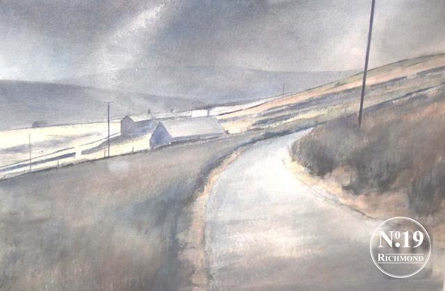 Peter Bolton original watercolour 'Road to Ravenseat' £495