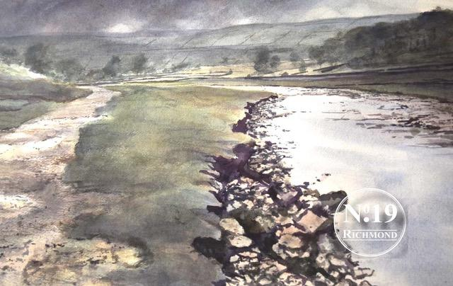 Peter Bolton original watercolour 'Swale above Muker' £495