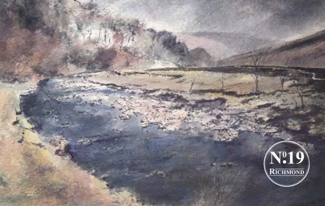 Peter Bolton original watercolour 'Cotterby Scar' £495