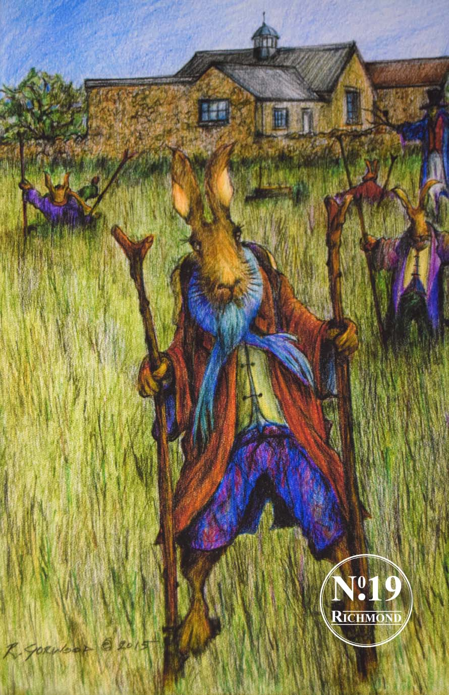 Print on Canvas 'Hare on Stilts' £55