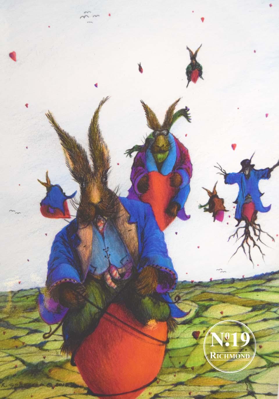 Giclee Print 'Pogo Hares' £40