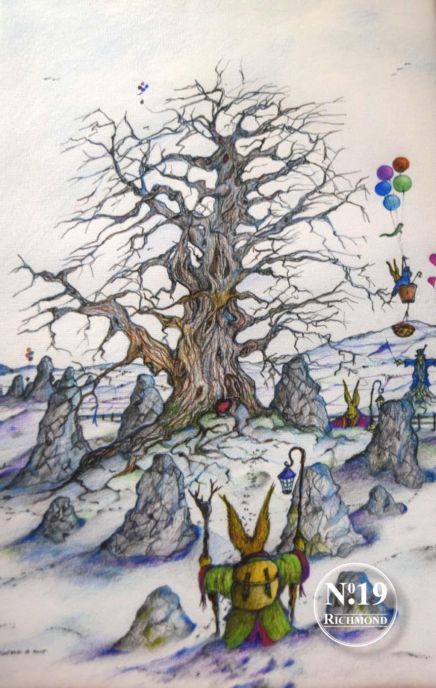 Giclee Print Snowy Walk' £40