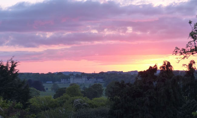 Home with a View -- Here's a shot of our the neighbor's place (Floors Castle where the Duke of Roburgh, allegedly the wealthiest man in Scotland, resides) from our garden. I wonder if he takes pictures of our home?