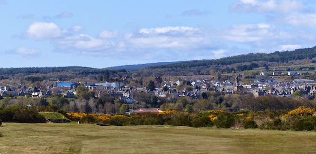 Tain Toon -- Here's a view of the town that gives Tain Golf Club its name. A fun and friendly track if you're ever in the neighborhood.