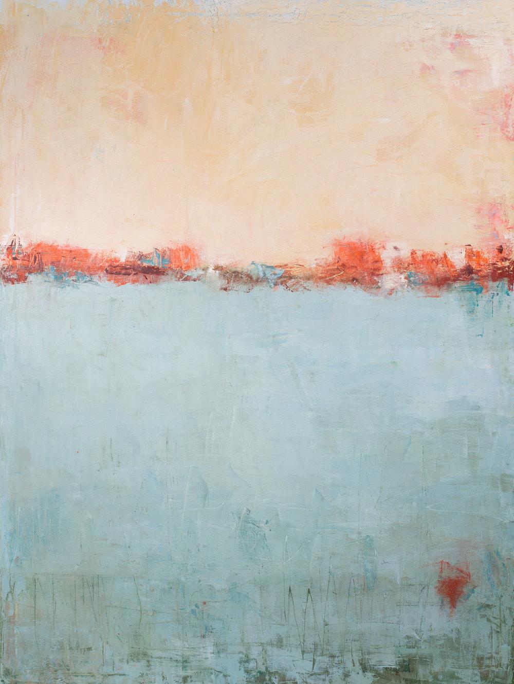 Soft Blue Horizon  36x48  2016