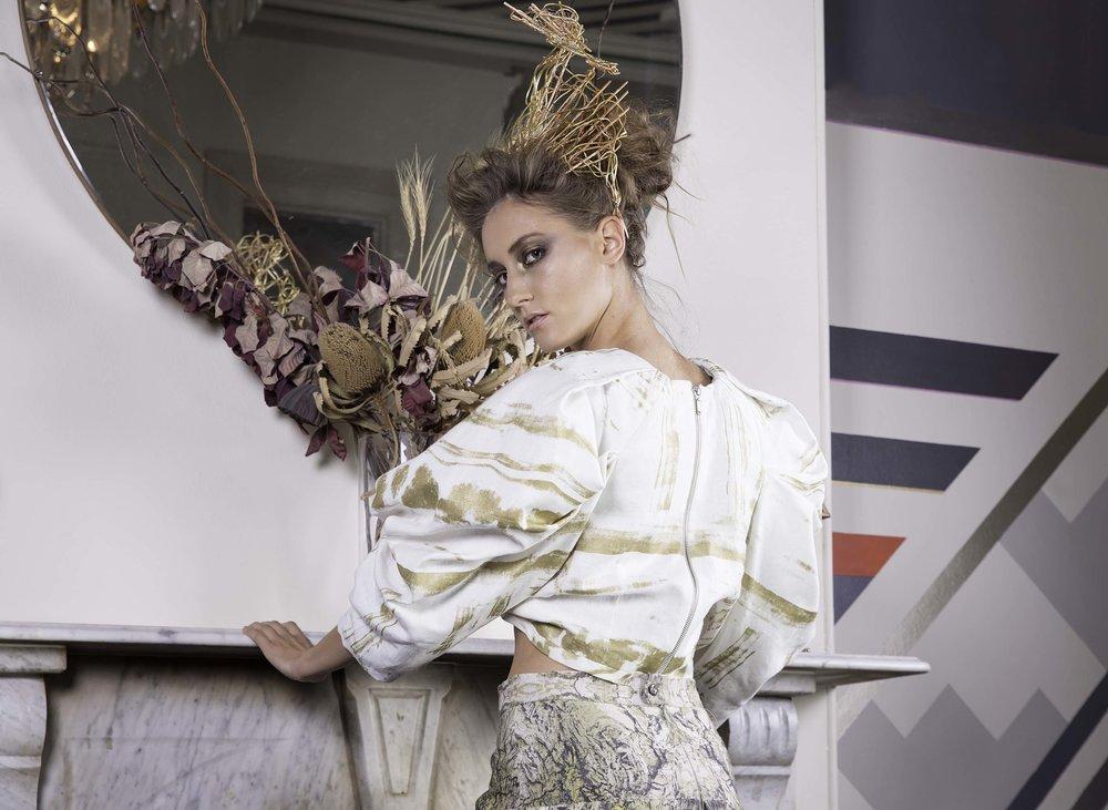 Elegant Magazine - 📷:@belindamathesonphotographyModel: Annika MilenaHUMA: Lisa RathgenAssistant Photographer: Jason ZenGold Headpiece: Krissy TeeVenue: Amelia Shaw