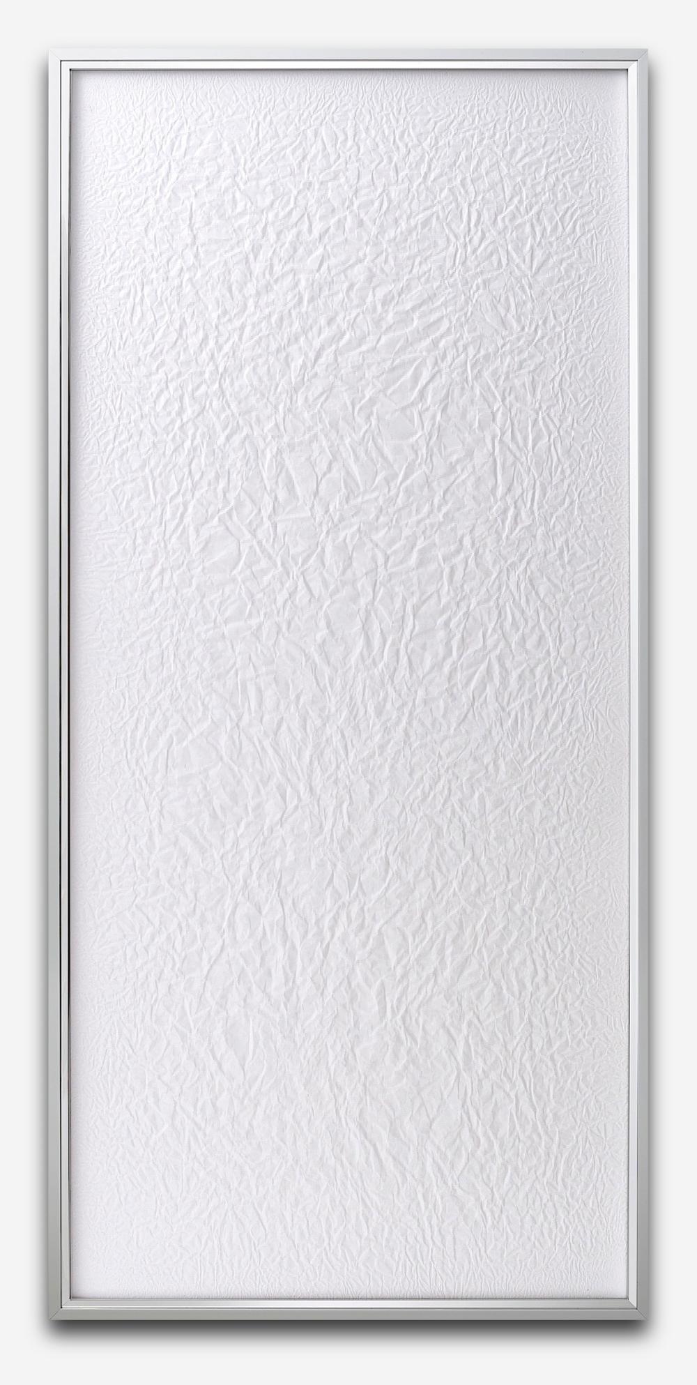Tabula Rasa / Part I,  2016 Mulberry Hanji paper on wood beneath structured Plexiglas, aluminium frame 152 x 72 cm (60 x 28 in)