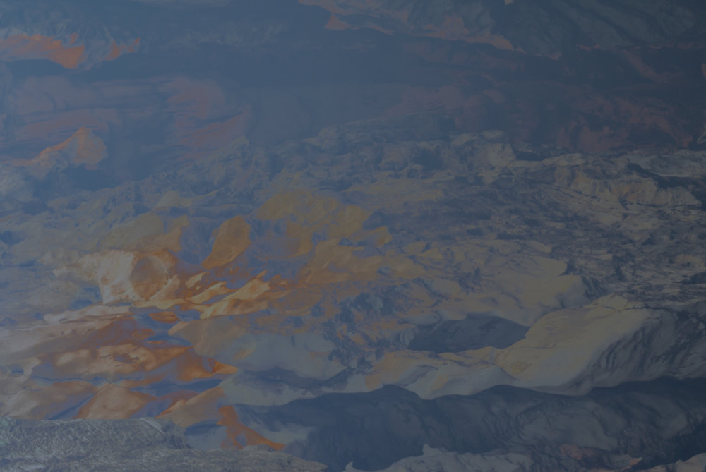 Atlas Obscura (The Dictaean Cave) / Part II,  2019 Wax pastels, UV-print on aluminium 180 x 150 cm (71 x 59 in)