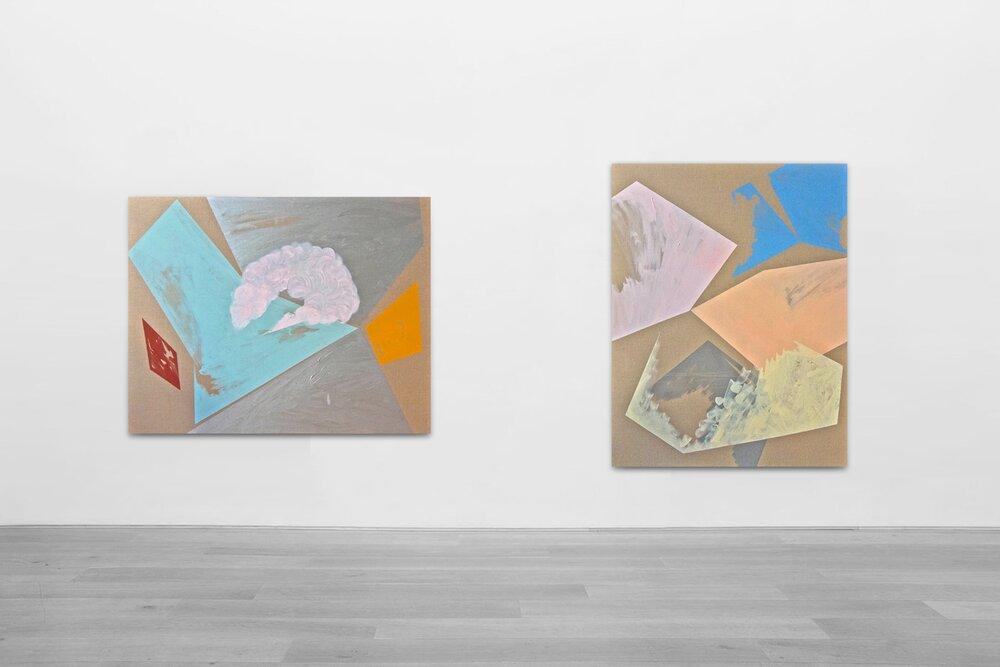 Proekt Unovisa / Part VII, VIII,  2012 - Installation view Oil, acrylic and on linen canvas 180 x 140 cm (71 x 55 in) each