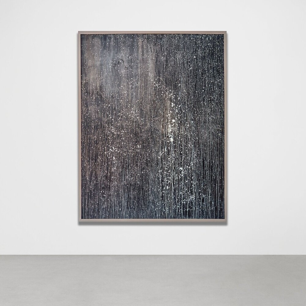 Opusculum,  2010 - Installation view Calligraphy ink, acrylic and petrolatum on canvas 180 x 140 cm (71 x 55 in)