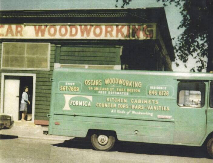A photo from the early 1960's of Oscar Woodworking.  Not only do we share the same address, but we share the same phone number!