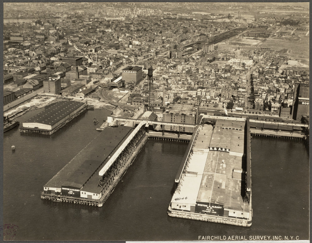 Cunard Wharf, East Boston Aerial