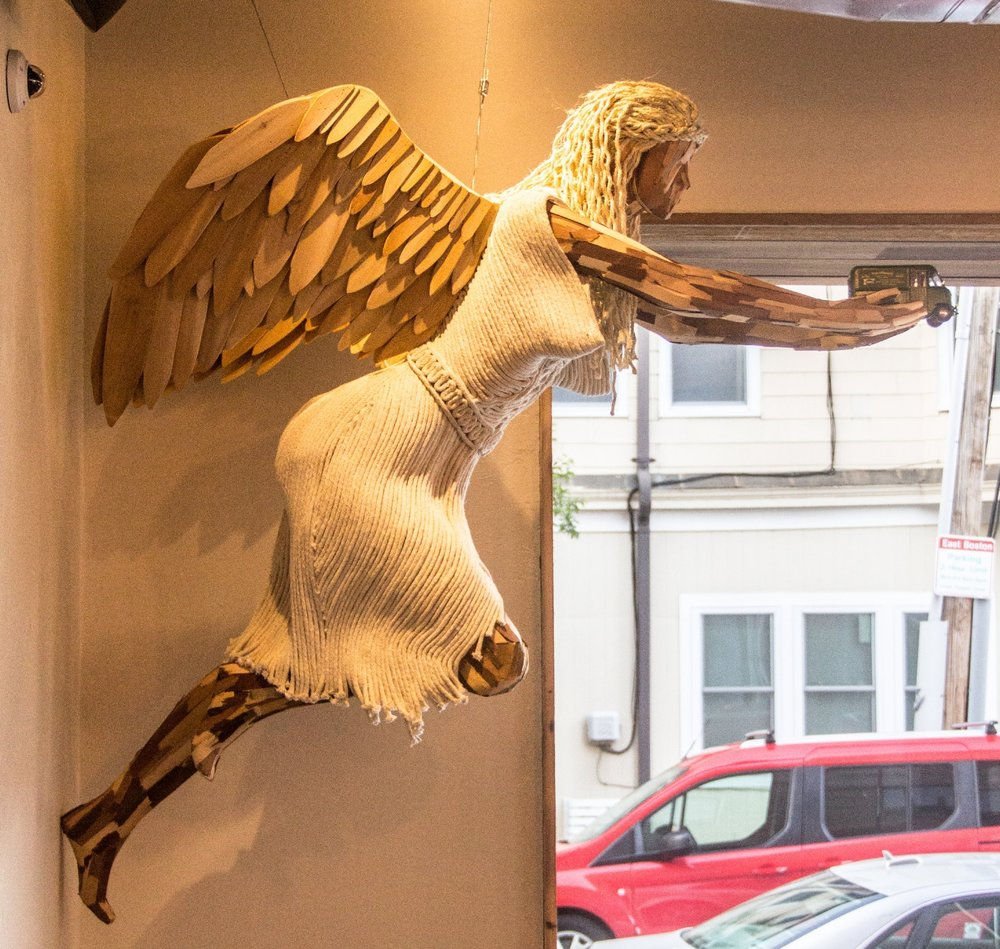 Our angel masthead is inspired by the tunnel angels.