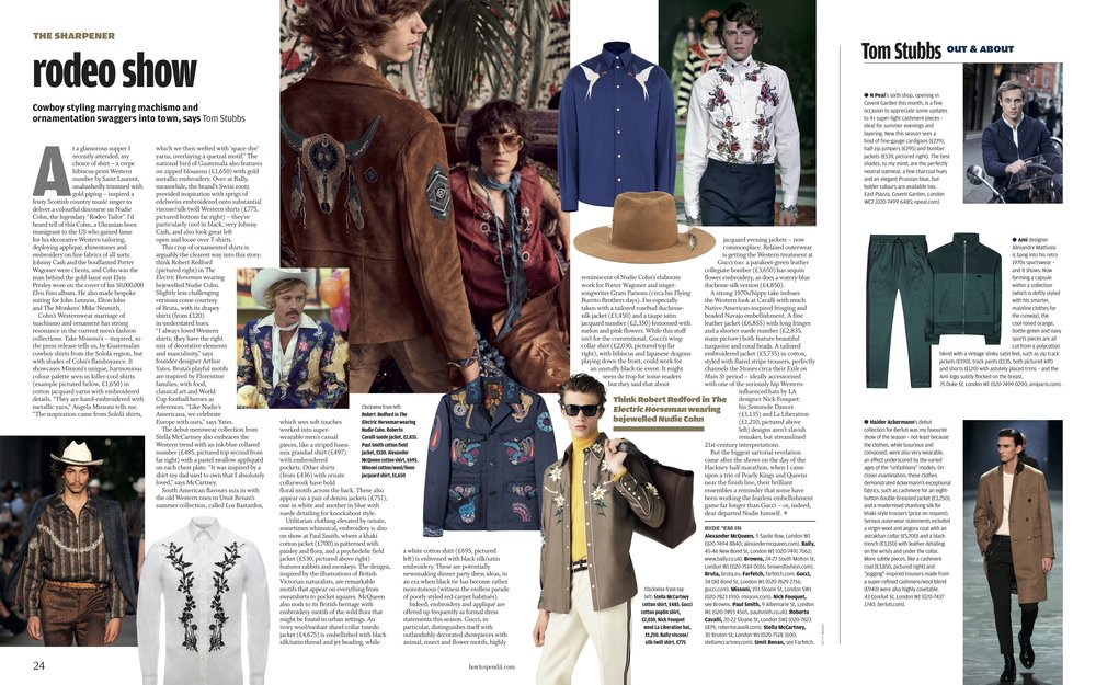 The FT How To Spend It - Western Embroidery