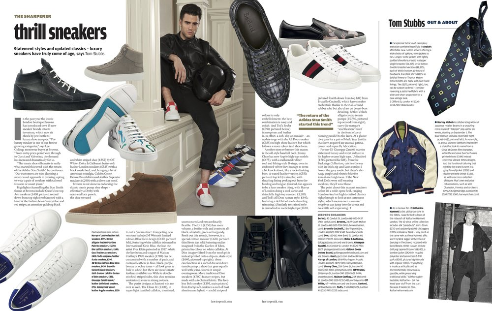 The FT How To Spend It - Thrill Sneakers
