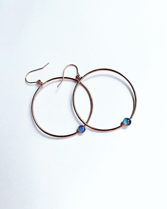 N E W ✨  Want these Blue Moonstone Hoops? Get them at the @sandiegomadeinsta Grand Opening Market on May 4th! Details @ link in bio! _____________________ #shopsmall #handmadejewelery #electroforming #witchywoman #crystaljewelry #love #bossbabe #sandiego #sandiegomade  #minimalist #minimalistjewelry #crystals #shoplocal #moon #electroforming #electroform #electroformedjewelry #earrings #moonstone #blue