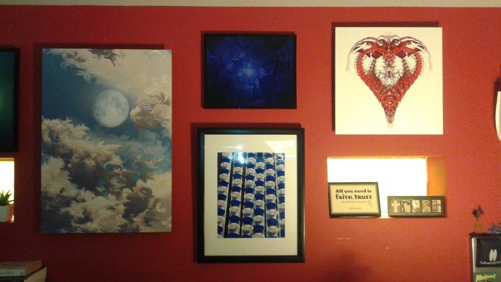 Christine's art wall