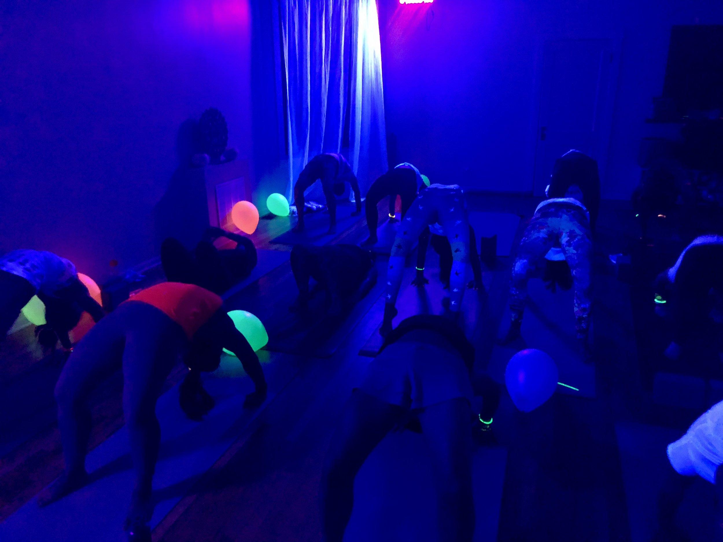 Upcoming Events Coconut Yoga Kopi Jahe By Bintan Pal Halloween Glowga Flow