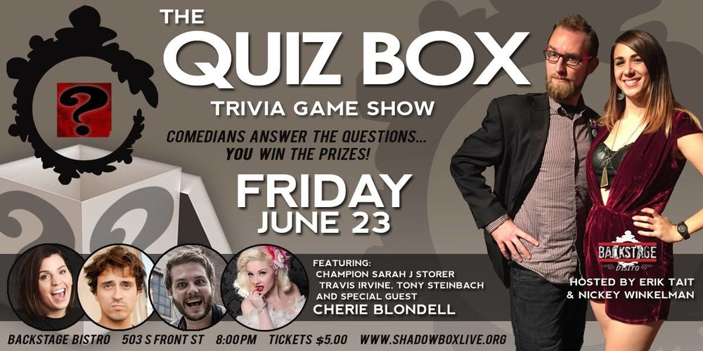 quiz box at shadowbox