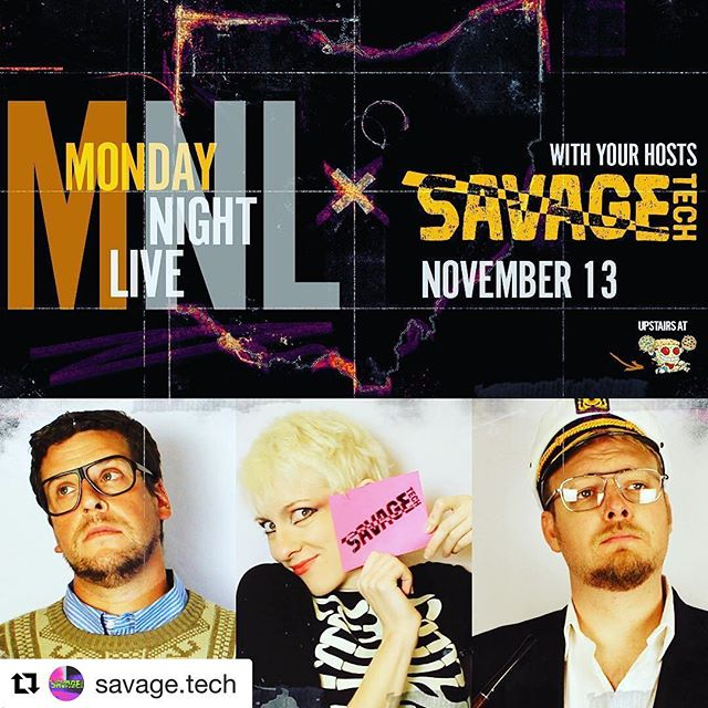 #Repost @savage.tech (@get_repost) ・・・ #tomorrow is #MondayNightLive ✨ #savagetechcbus are your November hosts! Come on out to #mikeyslatenightslice for #sketchcomedy 🍕 #columbuscomedy #columbuslaughs #ohio #cbusgram #614 #columbuscreates #asseenincolumbus #columbusisfunny