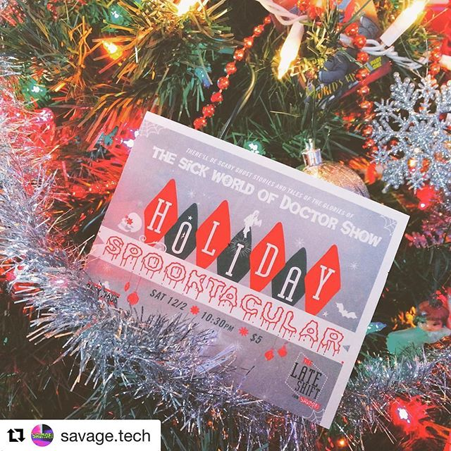 #Repost @savage.tech (@get_repost) ・・・ Halls: Decked. Tix: On Sale NOW for #DoctorShow this #saturdaynight 💫 12/2 10:30pm at the @backstagebistro ✨ #horrorcomedy for the #holidays 🌜 on the #bsblateshift from #savagetechcbus ⚡️ #columbuscomedy #sketchcomedy #standupcomedy #columbuslaughs #columbusisfunny #columbuscreates #latenightshow