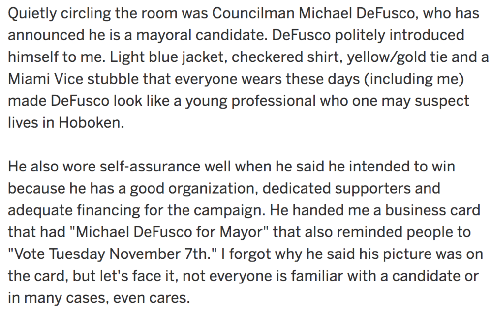 Mike DeFusco for Mayor NJ dot com