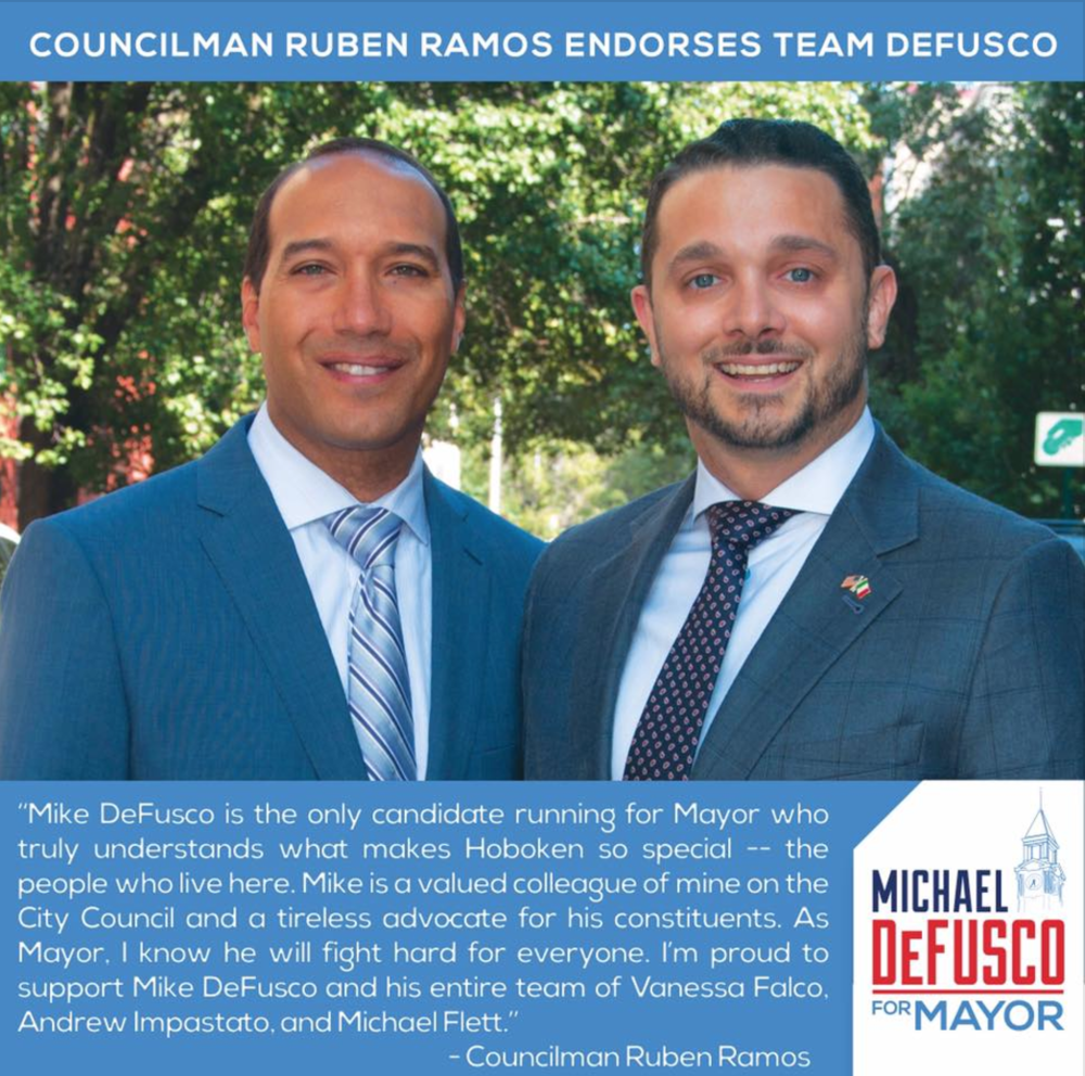 Councilman Ruben Ramos Endorses Mike DeFusco for Mayor