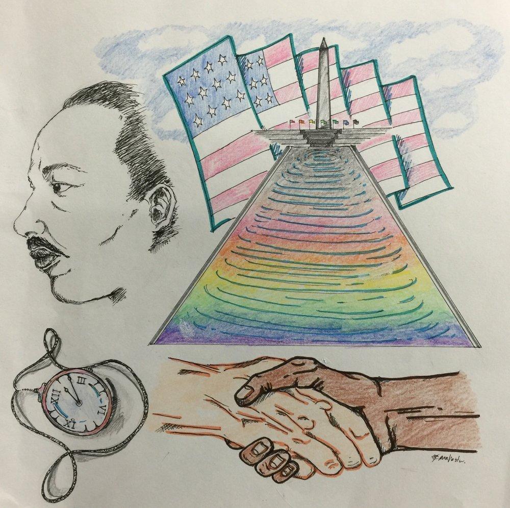 Martin Luther King Jr Drawing 2016 Tara Vasanth
